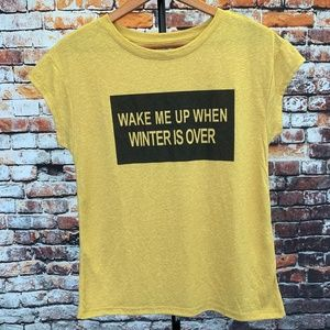 Clockhouse Tops - Graphic Tee Wake Me Up When Winter Is Over